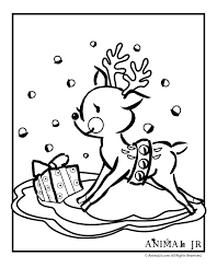 Christmas Printables Cartoon Reindeer Coloring Pages
