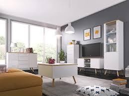 moderne kommode lime 50 wohnzimmer weiß hochglanz schrank highboard wotan eiche