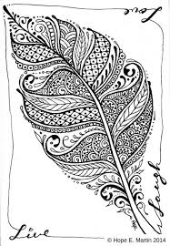 Abstract Leaf Coloring Pages