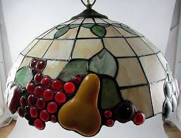 style stained glass hanging kitchen light l fruit pears