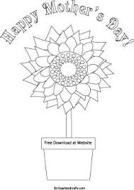 Mothers Day Coloring Page Sunflower And Flower Pot