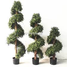 Outdoor Artificial Topiary Buxus Spiral Trees In Different Size Dongyi