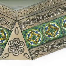talavera tile tin octagonal mirror one
