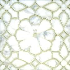tiles fleur snow water jet cut mosaic glass tile soho studio