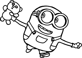 Best Printable Minions Cartoon Coloring Pages For Kids