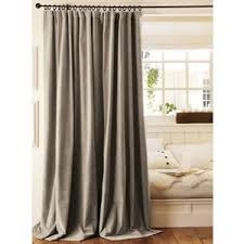 Velvet Drape traditional curtains by Pottery Barn Polyvore