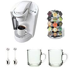 Keurig K45 Elite Coconut White With 12ct Variety Pack And Water Filter Kit