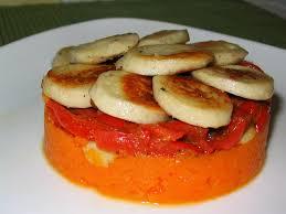 cuisine boudin blanc timbale de boudin blanc carottes et poivrons au cumin la cuisine