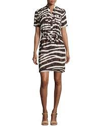 sharagano zebra print short sleeve dress lyst