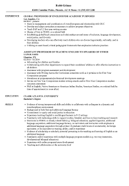 English Professor Resume Samples | Velvet Jobs Collection Of Solutions College Teaching Resume Format Best Professor Example Livecareer Adjunct Sample Template Assistant Clinical Samples And Templates Examples For Teachers Awesome 88 Assistant Jribescom English Rumes Biomedical Eeering At 007 Teacher Cover Letter Ideas Education Classic 022 New Objective Statement Photos