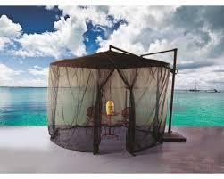shade trend cantilever mosquito umbrella netting reviews wayfair