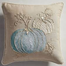 Pier One Blue Throw Pillows by Tabulous Design Fall Preview 2017 Pier One