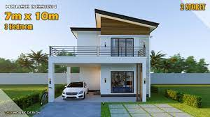 104 Housedesign Small House Design Simple House 7m X 10m 2 Storey 3 Bedroom Youtube