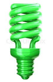 green light bulb efficiency and eco friendly technology stock