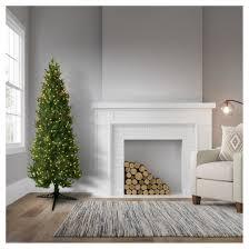 Slim Pre Lit Christmas Trees 7ft by General Foam 7 U0027 Pre Lit Artificial Christmas Tree Slim Spruce