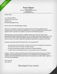 Cover Letter Example Paralegal Classic CL