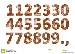 Rust Numbers Iron Numerical Letters Isolated Rustic Arabic Numeral Characters 1 2 3 4 5