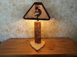 Laser Cut Lamp Shade by Log Lamp Your Choice Laser Cut Steel Shade Rustic Elk Deer