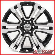 100 Chevy Truck Wheels And Tires NEW 22 GMC YUKON SIERRA DENALI CHEVY SILVERADO TAHOE BLACK WHEELS
