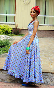 long african dress with front knotted scarf long african dresses