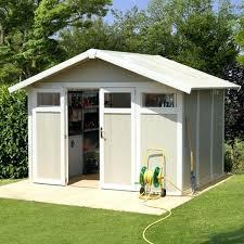 abri jardin grosfillex pvc de en 75ma deco blanc et gris vert 75m
