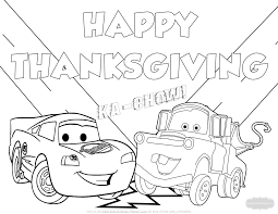 Heres Our New Disney Cars Thanksgiving Coloring Page Celebrate With Lighting McQueen And Mater This Holiday Season To Download Right Click Your Mouse