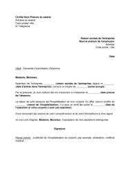 mail absence maladie bureau exemple gratuit de lettre demande autorisation absence