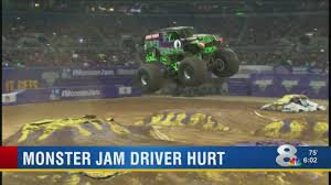 100 Monster Truck Video Shows Grave Digger Injury Incident At Tampa Jam