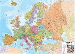 maps international carte murale plastifiée europe politique