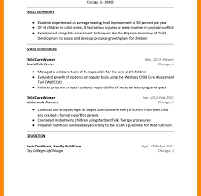 Child Care Resume Sample For Samples Template Director Job Free Daycare