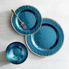 Evelyn Deep Blue Glass Dinnerware Pier 1 Imports Dining Room In