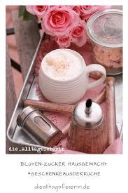 blüten zucker hausgemacht pink up your coffee