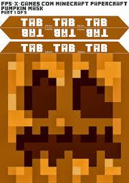 Minecraft Pumpkin Stencils Free Printable by Facebook