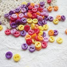 100 Pcs Opaque Very Tiny 2 Hole Button 5 Mm For Making Etsy