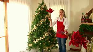 Decorating A Prelit Christmas Tree In Hurry