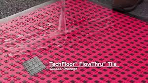 techfloor premium flowthru floor tiles with tractionsquares