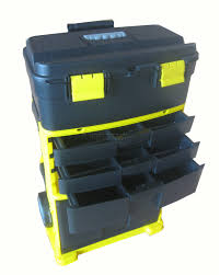WestWood Plastic Mobile Roller Work Shop Chest Trolley Storage Tool ...