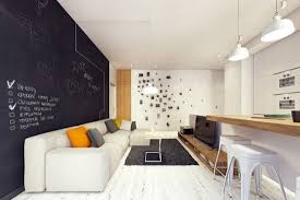 Cute Chalkboard Living Room Accent Wall