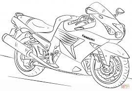 Kawasaki Motorcycle Coloring Page