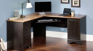 Sauder Harbor View Computer Desk Salt Oak by Lovable Corner Computer Desk Agriusadesign