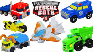 100 Rescue Bots Fire Truck Transformers Huge Collection Optimus Bee Chase Heatwave