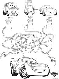 Disney Cars Coloring In Pages Free Printable