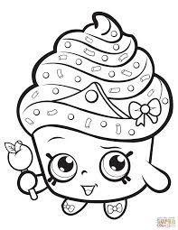 Beauty Lippy Lips Shopkin Coloring Page Printable Cupcake Queen Pages Free