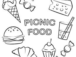 Healthy Food Colouring Pages Free Coloring Printable Picnic