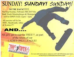 100 Truck Stop Skatepark Sunday Flier