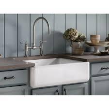 Kohler Whitehaven Sink Accessories by Kohler K 6487 0 Whitehaven White Apron Front Single Bowl Kitchen
