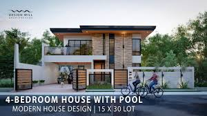 104 Housedesign D04 Modern House Design 15m X 30m Lot 4 Bedroom House With Pool Youtube