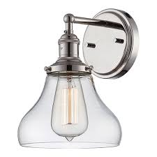 nuvo lighting vintage polished nickel one light 7 inch wide wall
