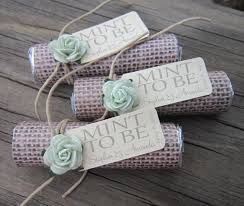 Mint To Be Wedding Favor