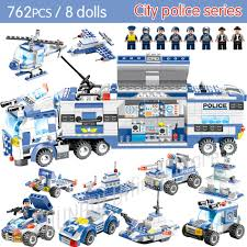 100 Bricks Truck Sales 647PCS 762PCS Police Series SWAT City Police Station